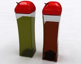 Olive Oil and Vinegar Service Bottle 3D model