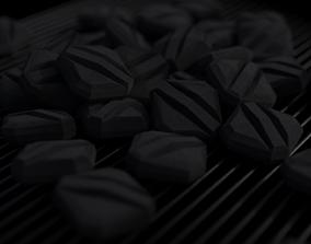 Charcoal Briquette 3D model