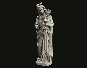 3D print model Virgin Mary Statue Full Figure With a