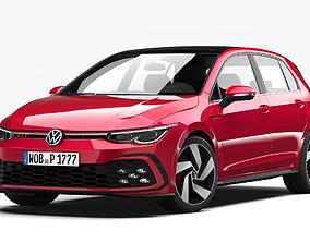 golf 3D model Volkswagen Golf GTI 2021