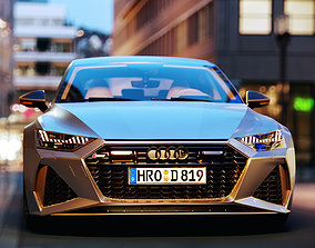 3D model game-ready Audi RS7 Sportback 2020