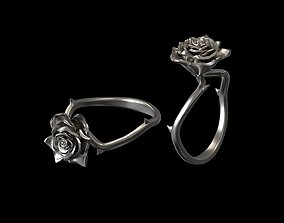 Rose ring 3d print model wedding