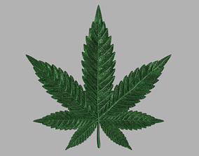 Marijuana leaf 3D printable model