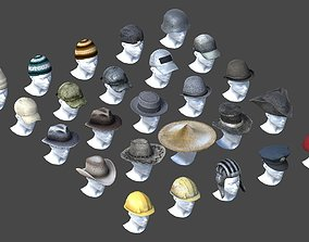 3D asset HQ Hats Pack - 25 in 1