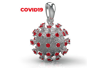 200328 P coronavirus pendant 3D printable model