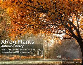 3D 2020 XfrogPlants Autumn Trees Library