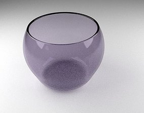 VR / AR ready Purple Glass Vase 3D Model