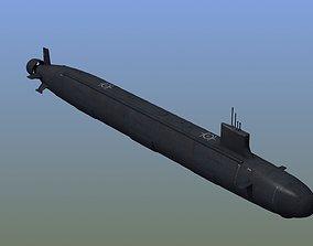 US Navy Submarine SSN 3D