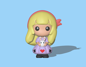 Alice in Wonderland cartoon 3D printable model