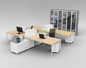 Modern Office Furniture Set 3D