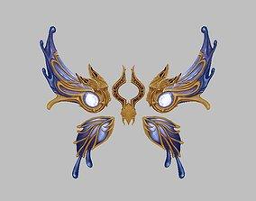 3D asset Blue Wing