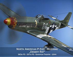 North American P-51D Mustang - Desert Rat 3D model