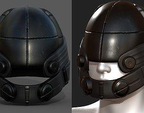 Helmet military combat soldier 3D asset game-ready 1