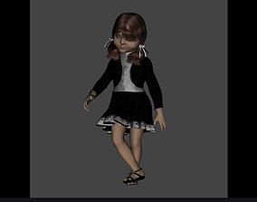 3D girl for cartoon