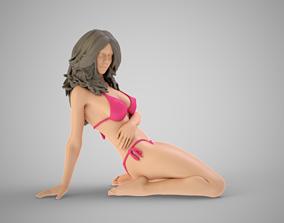 girl 3D printable model Woman Home Mood 2