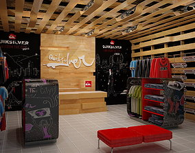 3D model Clothing Store interior Quiksilver 1 store