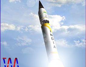 3D model AGNI-3TD Ballitic Missile