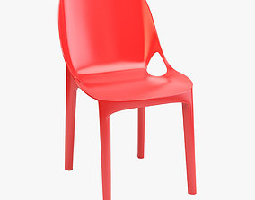 3D asset Colored and Clear Plastic Chair
