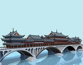 China ancient birdgr --YaAn Wind and Rain porch 3D model 2