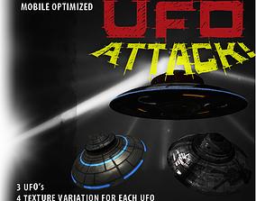 3D asset UFO Attack