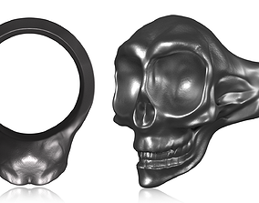 3D printable model Skull Ring bone