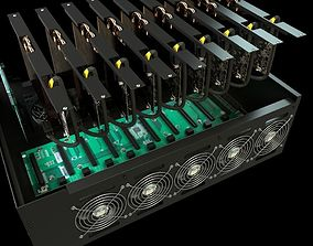 3D mining case with GPU inside