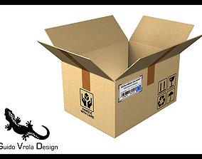 Open Cardboard box 3D