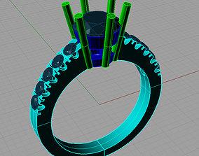 3D printable model Solitaire Diamond Ring Anello 1