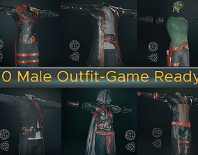 10 Male Outfit -Game Ready 3D