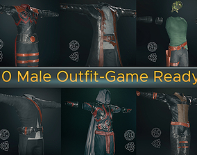 3D model 10 Male Outfit -Game Ready