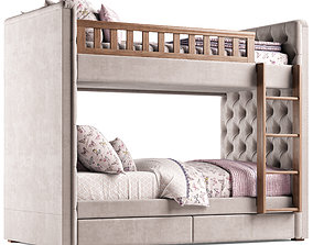 RH Chesterfield Bed 3D model restoration