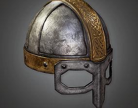 Ancient Metal Helmet TRS - PBR Game Ready 3D model