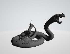Salazar Slytherin summoning Basilisk 3D print model