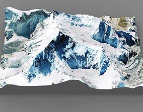 3D Mount Everest 8848 meters