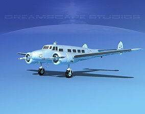 Lockheed L10 Electra Continental 3D model