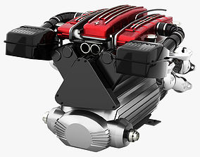 3D model Tipo F116 - F133 V12 Engine AWD system