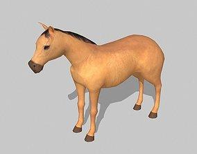 horse 3D asset VR / AR ready