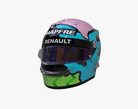 Ricciardo helmet 2019 3D asset