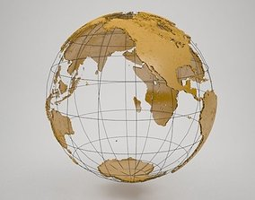 Wire Earth Globe High details 3D model