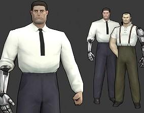 Cyber noir character 3D asset