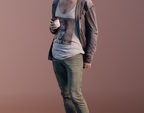 3D asset Kenneth 10163 - Standing Casual Guy