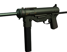 M3 Grease Gun 3D model rigged