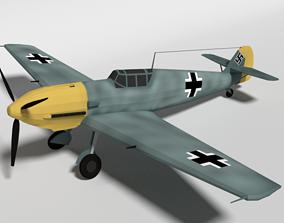Low Poly Cartoon Messerschmitt Bf 109E-3 Emil WW2 3D model