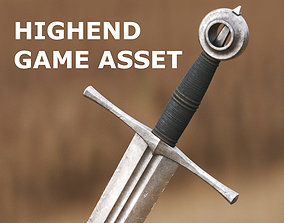 3D asset Medieval Sword for Games and Cinematics