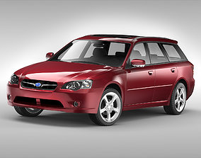 Subaru Legacy Wagon 2003 - 2009 3D model