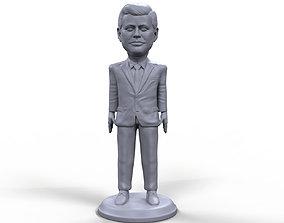 JFK stylized high quality 3D printable miniature
