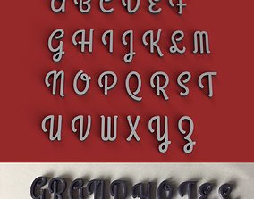 GRANDHOTEL uppercase and lowercase 3D Letters STL FILE
