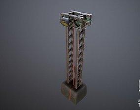3D model cyber punk light on pillar
