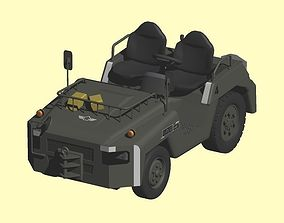 3D model Japan Air Self-Defense Force Towing Car and 2Type