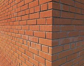 3D Red facing brick